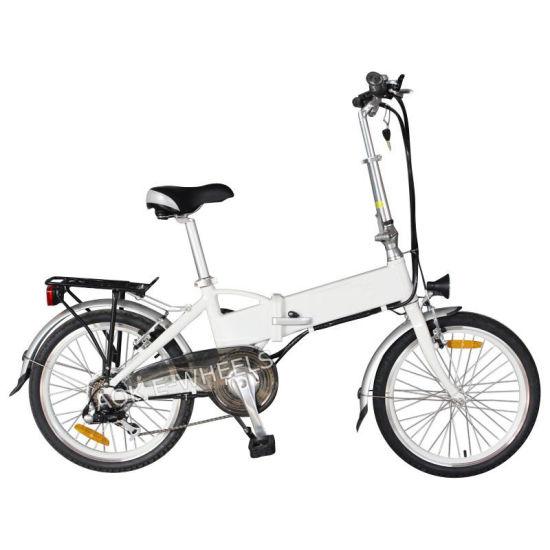 Folding Light Lithium Battery Electric Bike with LED Headlight (TDE-039B)