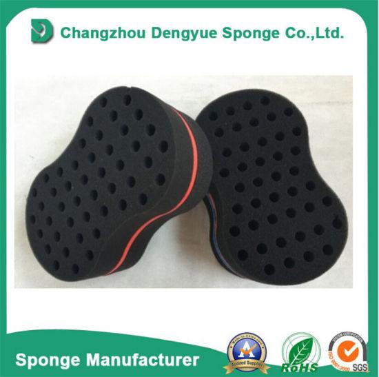 China Black Man Magic Hair Twist Sponge Comb China Oval Shape Hair