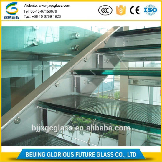 Ultra Thickness Low Iron 12mm Laminated Glass for Stairs