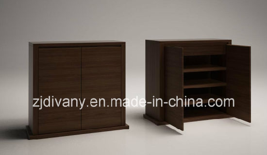 China Italian Modern Style Wooden Shoe Cabinet Wine Cabinet Sm D25a