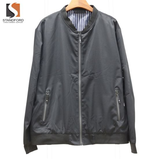 Cheap Nylon Waterproof Men's Zip up Jackets Coat for Promotion