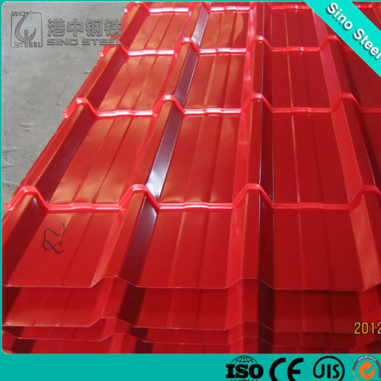 China Brick Red Color Coated Corrugated Metal Roofing Sheet Price China Color Coated Roofing Sheet Zinc Coating Corrugated Sheet