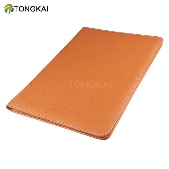 Leisure Style Genuine Leather Padfolio Notebook Cover