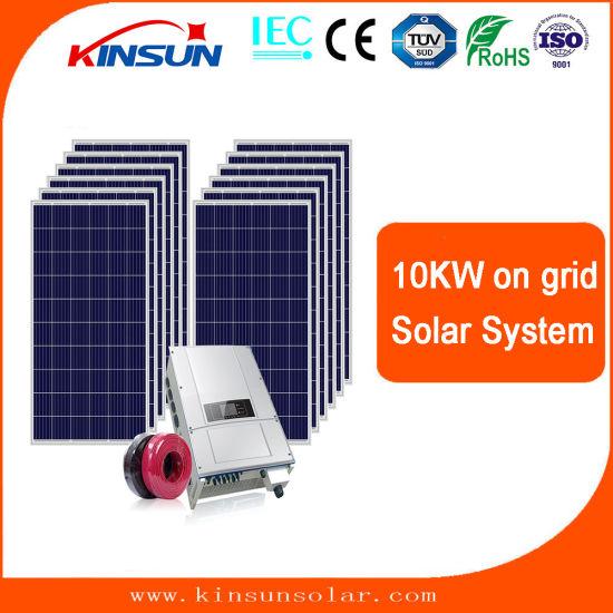 High Efficiency Solar PV Panel on Grid 10kw Home Solar System