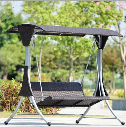 New Design Balcony Garden Courtyard Rattan Swing Hanging Indoor Outdoor Seat Swing Chair