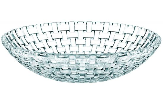 Cross-Woven Crystal Glass Plate pictures & photos