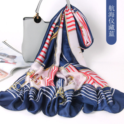 Wholesale Silk Scarf Air - Conditioned Shawl Sunscreen Beach Towel