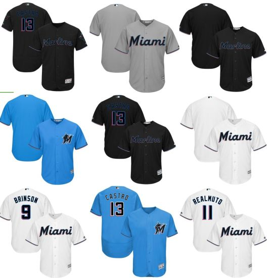 dd4e60a692a China Miami Marlins Starlin Castro 2019 Official Cool Base Jersey ...