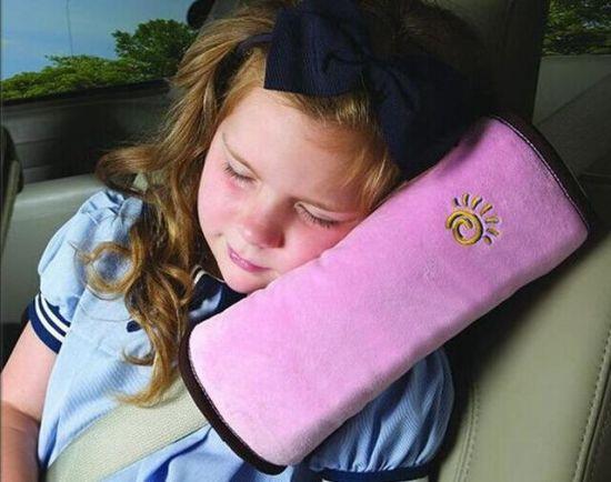 Child Plush Soft Headrest, Neck Support Pillow, Shoulder Pad Car Safety Seatbelt