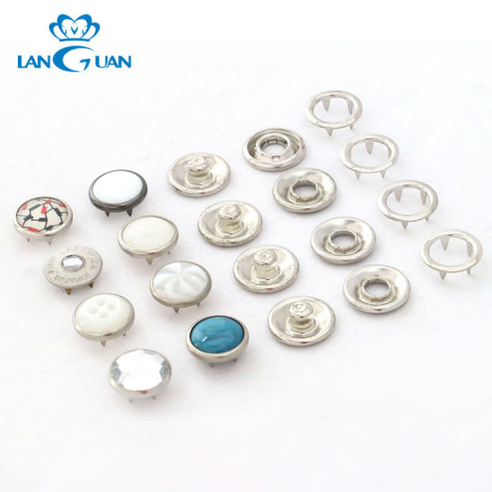 Wholesale Customize Metal Four Parts Pearl Snap Button for Dress Shirt