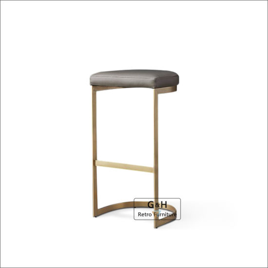 Modern Party Hire Stackable Rose Gold Metal Arrow Counter Bar Stools