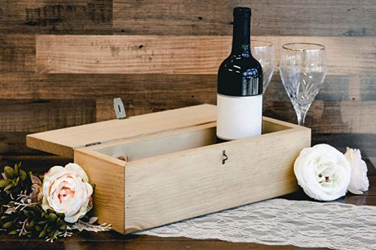2019 Personalized Engraved Wine Box First Names and Vintage Custom Text pictures & photos