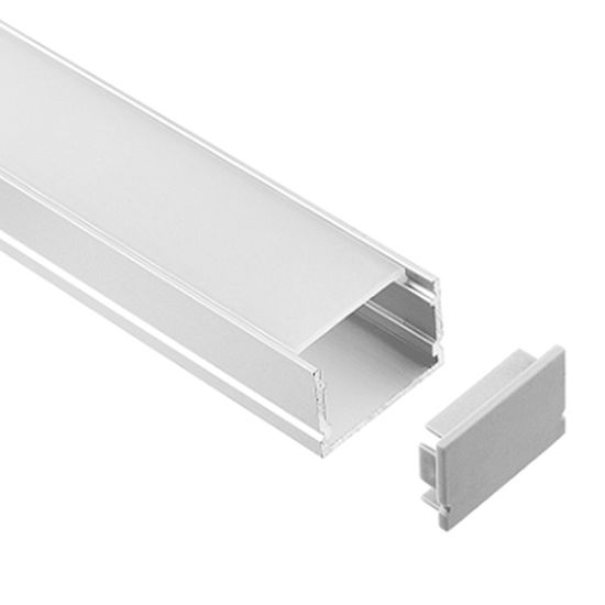 European Style Aluminium/Aluminium Extrusion Profile Housing for LED Lights pictures & photos