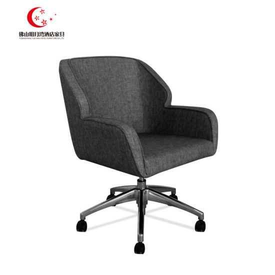Rotated Wheels Office Chair Hotel Desk Chair Upholstery with Fabric