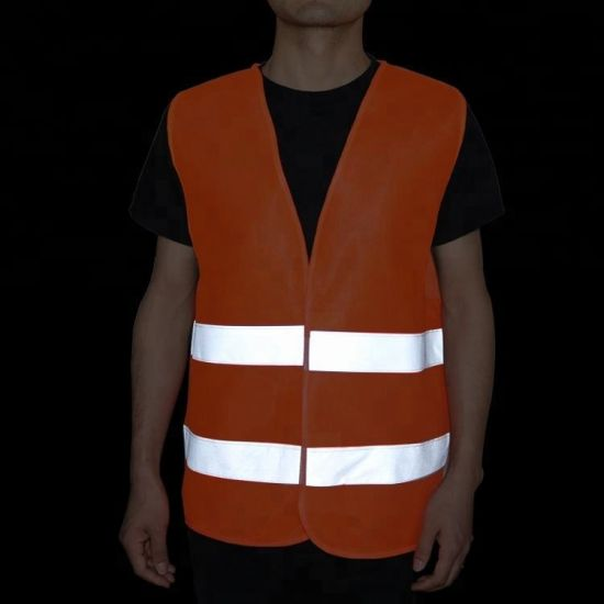Durable Construction Worker Wear Warning Stripes Reflective Jacket for Adults