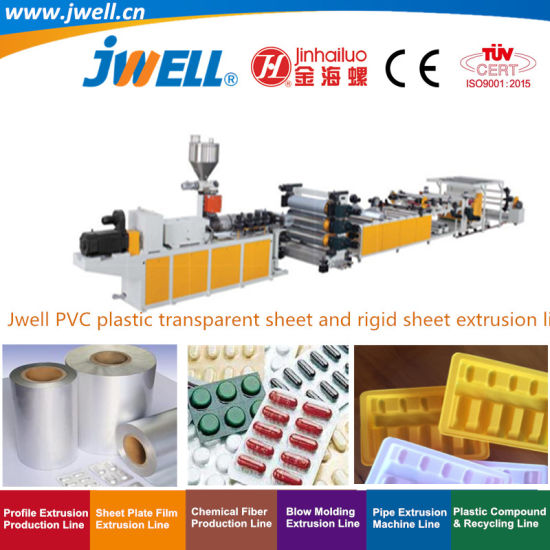 Jwell-PVC Plastic Transparent Soft Sheet Recycling Agricultural Making Extruder Machine for Packing and Vacuuming