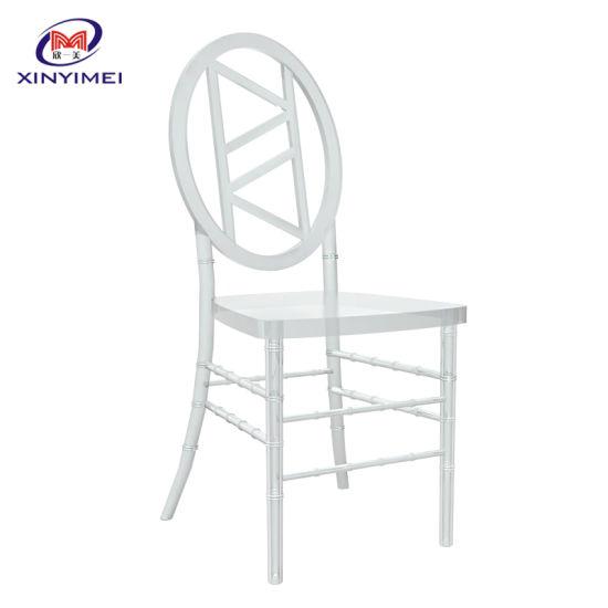 New Style Round Back Clear Resin Plastic Chiavari Chair Wedding