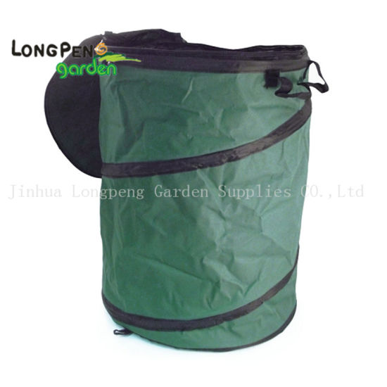 Oxford Collapsible Leaf Container, Garden Bag with Zipper Lid