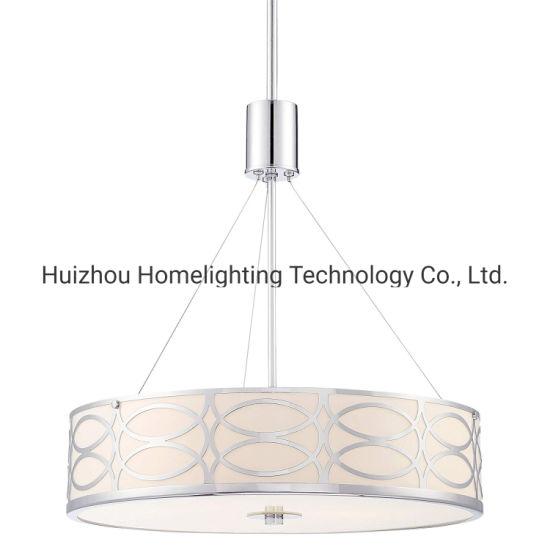 China Jlp 37702 Metal Caged Drum 3 Light Pendant Hanging
