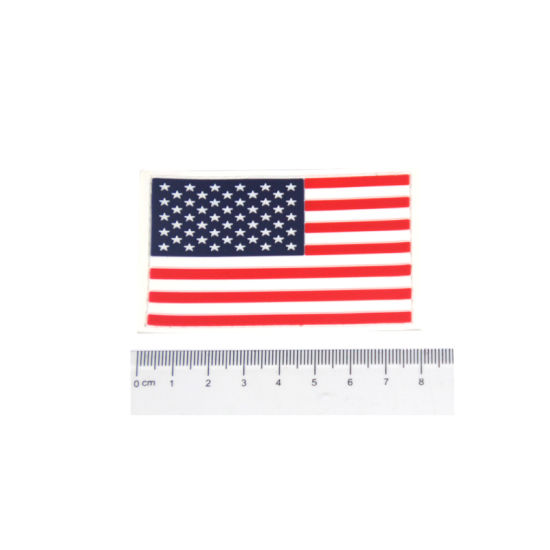 China High Quality Custom Military America Flag Morale PVC