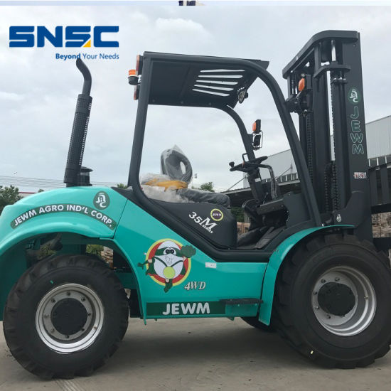 Snsc off Road Forklift 3.5t with Side Shift