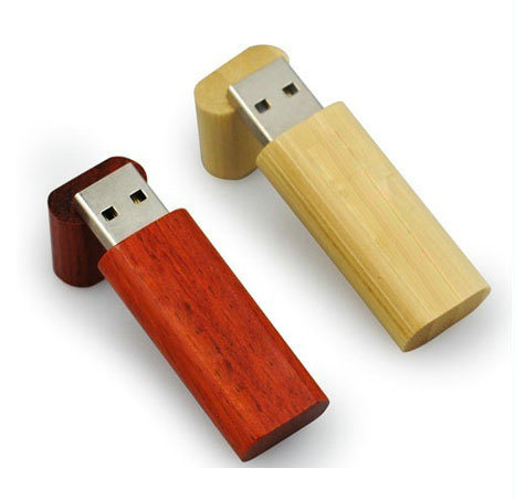 Egg Shape Wooden USB Flash Drive with Magnet pictures & photos