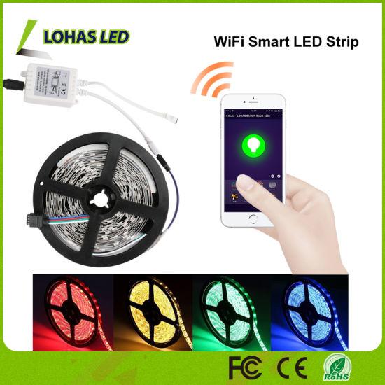 Tuya APP/Alexa Voice/Google Home Controlled 5m/Roll 300 LEDs WiFi Smart RGB LED Strip Light