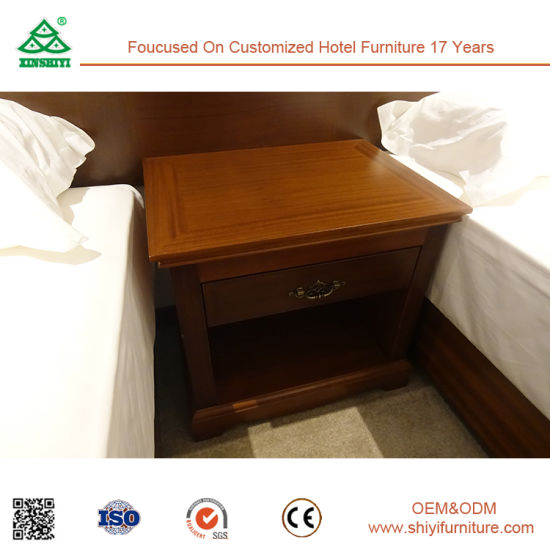Plywood with Solid Wood Hotel Furniture of Twin Bedroom Set pictures & photos