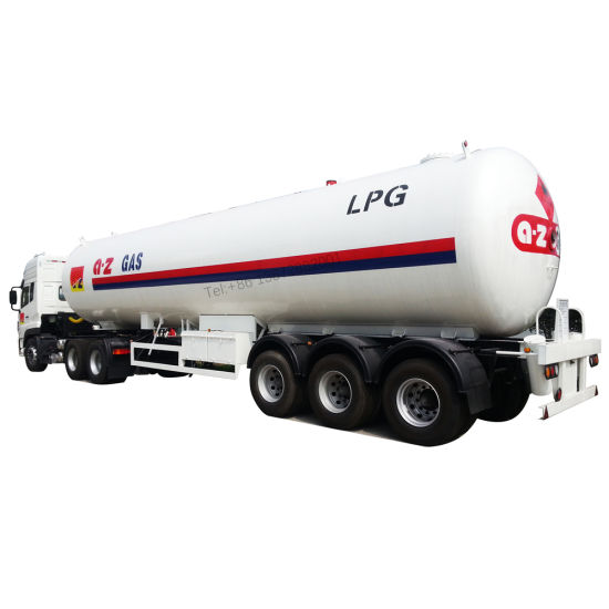 Clw Brand Propane 60000liters 56m3 58.5m3 Tank LPG Semi Trailer