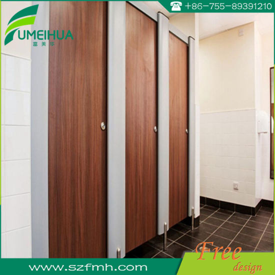 Standard Size 18 mm Phenolic Resin Wooden Toilet Partition pictures & photos