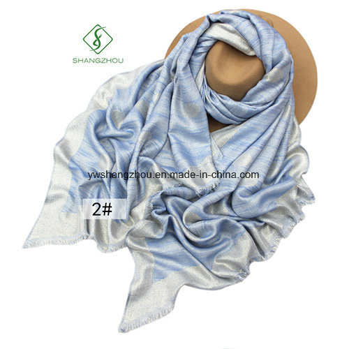 New Design Spun Gold Shawl Leisure Lady Fashion Scarf pictures & photos