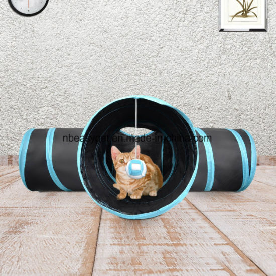 Pet Tunnel Collapsible 3 Way Play Toy Tube Fun for Rabbits Kittens and Dogs Creaker Collapsible Pet Toy Tunnel with Ball for Cat, Puppy, Kitty, Kitten pictures & photos