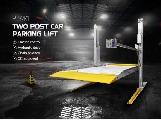 Lifting Height 2100 mm 2 Cylinder Two Post 2 Level Vehicle Garage Car Parking Lift