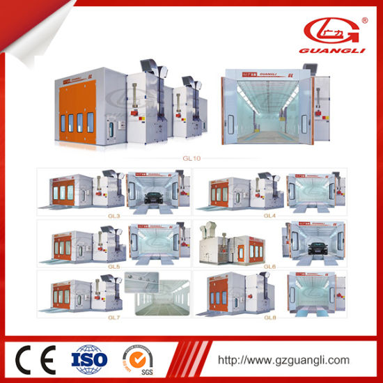 Factory Supply High Quality Car Garage Equipment Water Soluble Painting Booth Room with Ce (GL4000-A3) pictures & photos