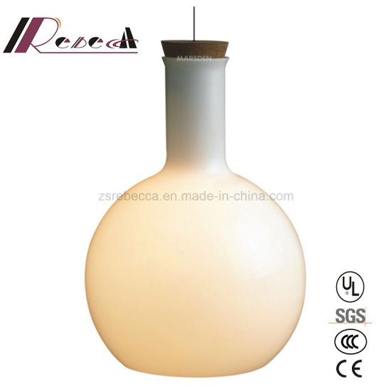 E27 40W Metal Opal Glass Pendant Light for Dining Room