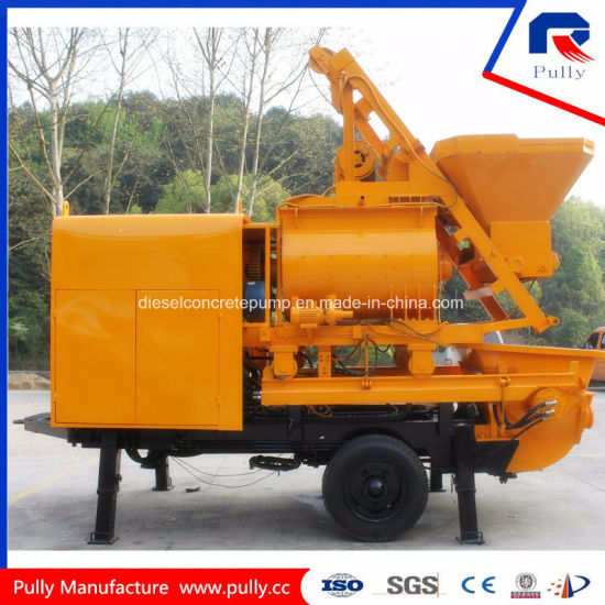Pully Manufacture Concrete Mixer Machine with Pump Price in Indonesia (JBT40-L17) pictures & photos