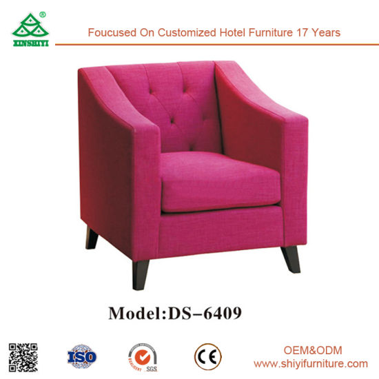 China Modern Hotel Living Room One Seater Sofa / Single Sofa with ...