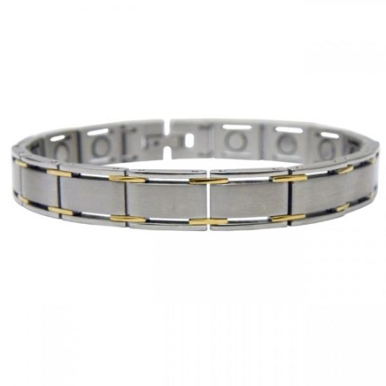 Carbon Fiber Health Care Magnetic Lover′s Stainless Steel Bracelet pictures & photos