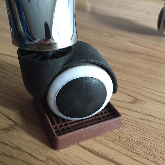 Brown Cushioned Rubber Caster Cups