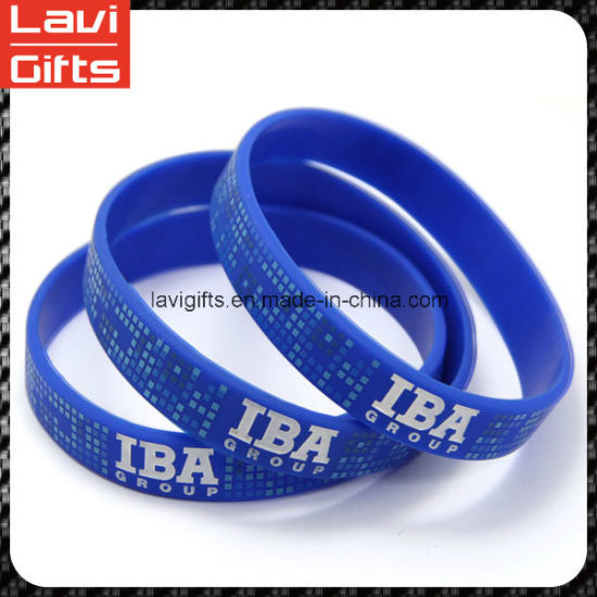 Interesting Custom Silicone Rubber Bracelet with Logo pictures & photos