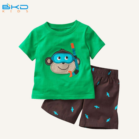 Printing Style Baby Garment Combed Cotton Baby Suit