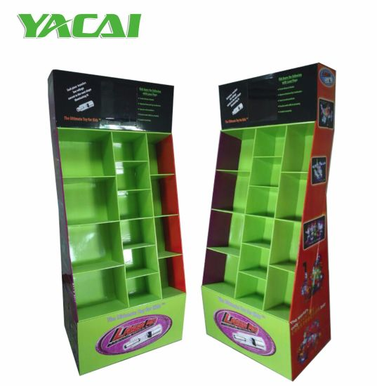 China Yacai Sturdy Floor Cardboard Display Stands For Retail Toys UK Mesmerizing Cardboard Display Stands Uk