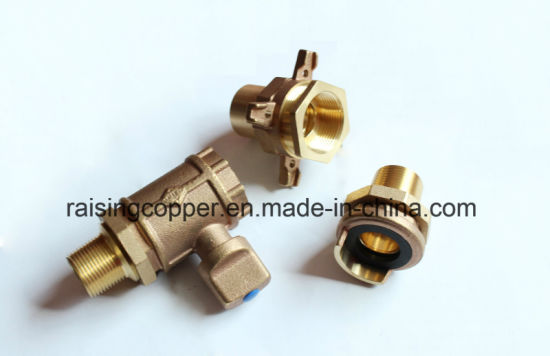 "3/4"" Bronze Water Meter Ball Valve pictures & photos"