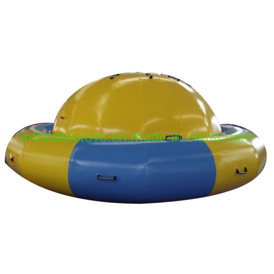 Inflatable Saturn Rocker / Inflatable Rotating Top for Water Park Games