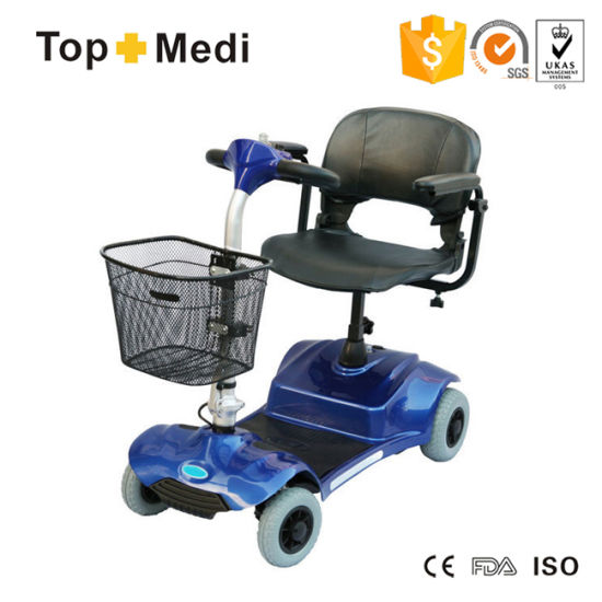 Topmedi Light Weight Detachable Four Wheel Electric Power Mobility Scooter