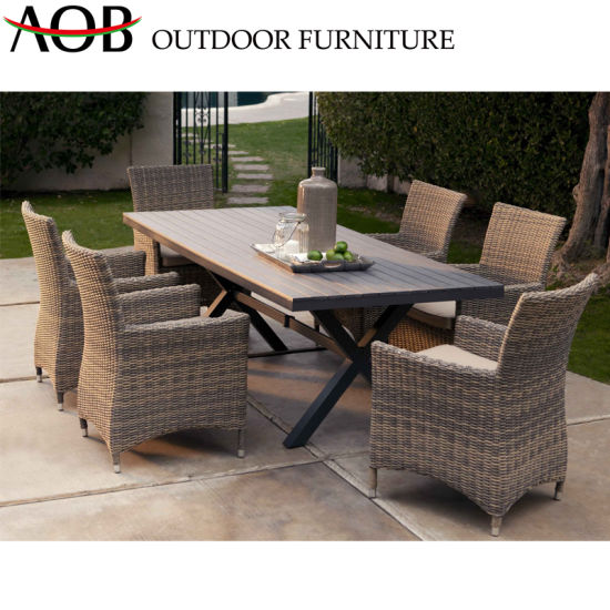Wholesale Modern Chinese Rattan Outdoor Furniture Chairs Sets Garden Patio Dining Table Chinese Furniture Dining Furniture