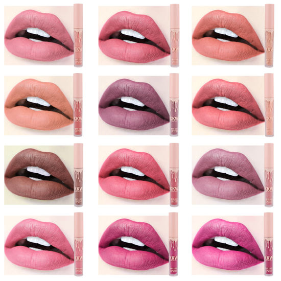 Wholesale 12color Lip Gloss Liquid Lipstick Non-Stick Cup Matte Makeup Cosmetics