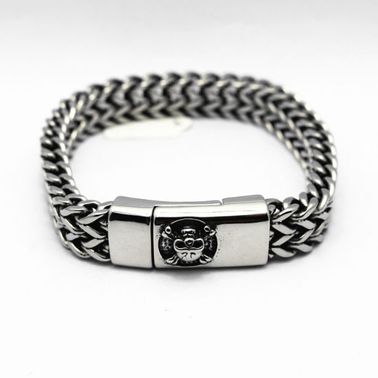 China Wholesale 17mm Stainless Steel Silver Cuban Link Chain