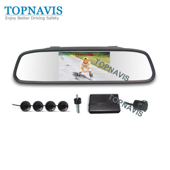 Colorful Video Parking Sensor with 4.3 Inch TFT-LCD Mirror Display