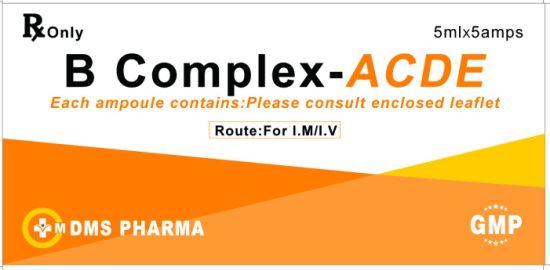 B Complex Vitamin D Vitamin a Vitamin E Vitamin C Thiamine Pyridoxine Riboflavin Lyophilized Injection
